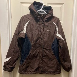3/20$ Columbia ladies brown white winter jacket